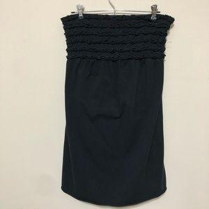 Xhilariation Black Ruffle Strapless Dress Sz xl